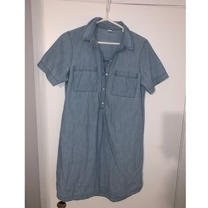 Jean dress with buttons.
